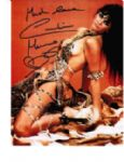 "Caroline Munro signed 10 by 8 star of ""Dracula"", Sinbad, Bond #5"